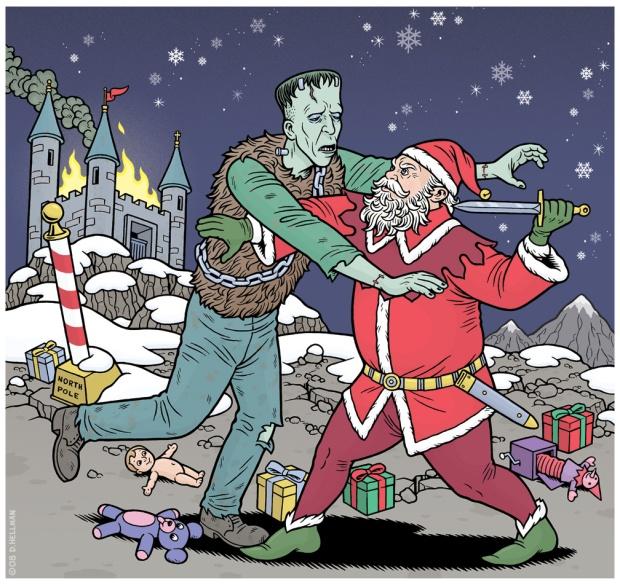 Halloween And Christmas.Halloween Versus Christmas The Terrifying Truth Insert